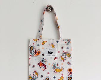 "Tote BAG for child L muse KIDS - ""Heart Paisley"" pattern"