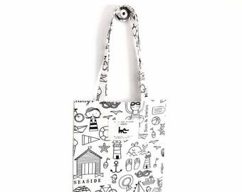 "Tote BAG kids coloring L... his muse KIDS - pattern ""Beach"""