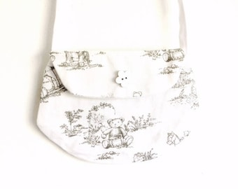 "Little girl ""clutch"" printed market tote bag"