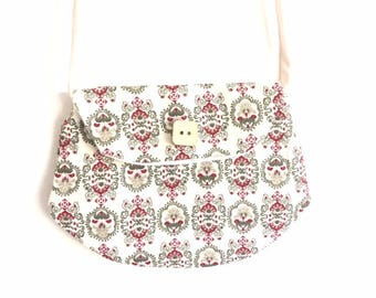 "Bag for little girls beige printed ""clutch"" style"