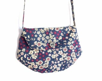 "Bag for girl LIBERTY blue ""clutch"" style"