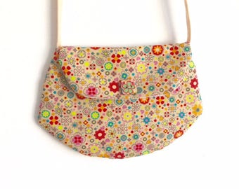 "Bag for little girl ""clutch"" style LIBERTY beige"