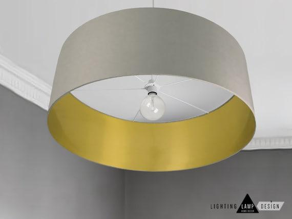 Vintage Lampshade Drum Ceiling Lightshade Extra Large Drum Etsy