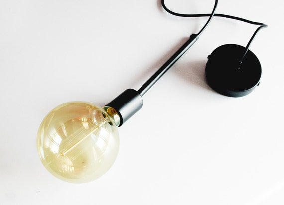 Modern Black Ceiling Lighting Edison Bulb American E26