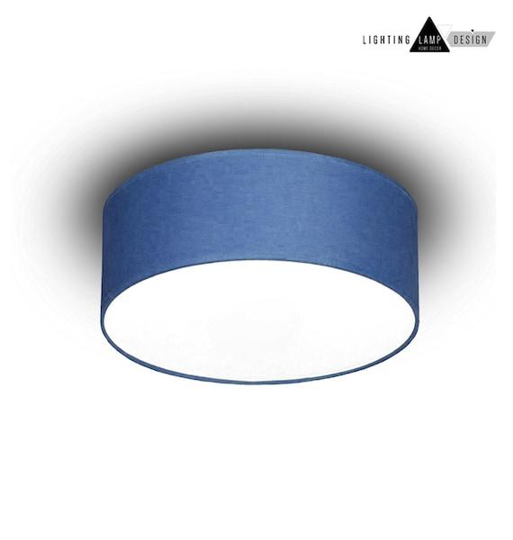 Blue Flush Mount Ceiling Lamp Shade Etsy