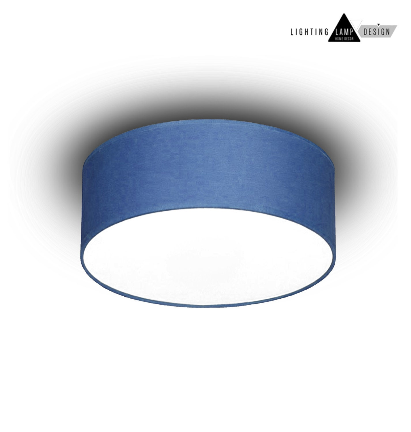 Blue flush mount ceiling -Ceiling lamp shade - Blue Kids light ...