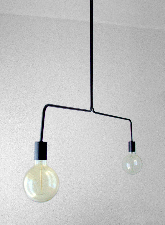 . Black Modern Ceiling Light   Industrial Chandelier Lighting   Ponz Home  Design