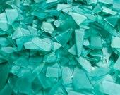 NEW Teal Thin Small Sea Glass Beach Glass