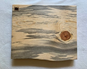 Charcuterie Board cutting board cheese board, Blue Pine One-of-a-kind, square