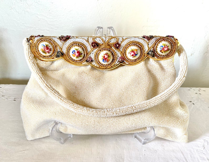 Vintage Made in France Beaded Purse