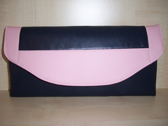 lined BN UK made. OVER SIZED  MINT GREEN faux leather asymmetrical clutch bag