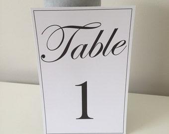 Table numbers - customised / wedding / event / personalised