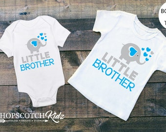 Little Brother Shirt - Little Brother Gift - Siblng Shirts - Matching Brother Shirts - Brother Outfits - Pregnancy Announcement - New Baby