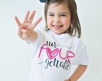 eb361d50bd307 Un Fourgettable Birthday Top - Birthday Shirt - Birthday Girl - 4th  Birthday Shirt - Four Year Old - Birthday Gift- 4th Birthday Outfit