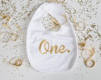One Birthday Bib - First Birthday Gift - 1st Birthday - 1st Birthday Outfit  - First Birthday Bib - 1st Birthday Party - Baby Clothing ba809095620