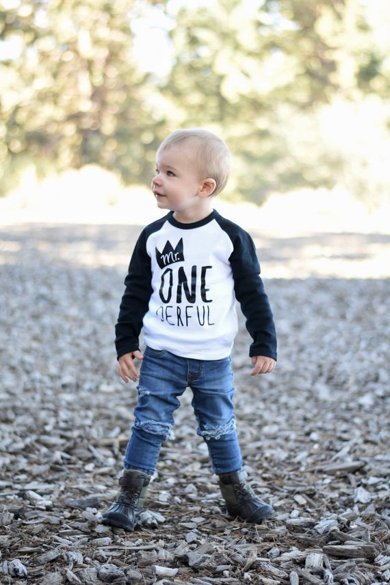 Boys First Birthday Shirt 1st Outfit Mr ONE