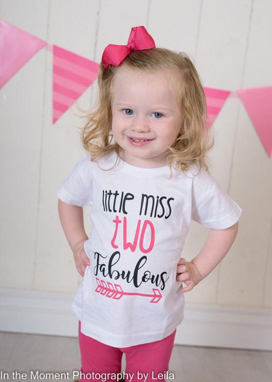 Little Miss TWO Fabulous 2nd Birthday Shirt