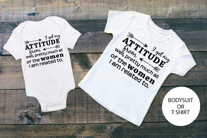 d2c4c4f6 I Get My Attitude From Girls Attitude Shirt Sassy Girls T | Etsy