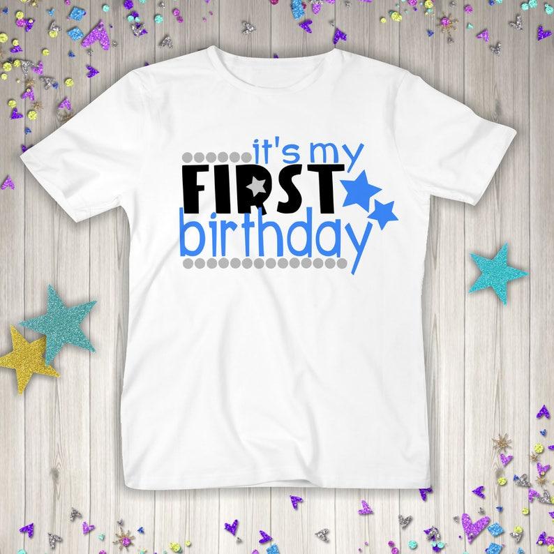 Boys First Birthday One Boy Shirt 1st