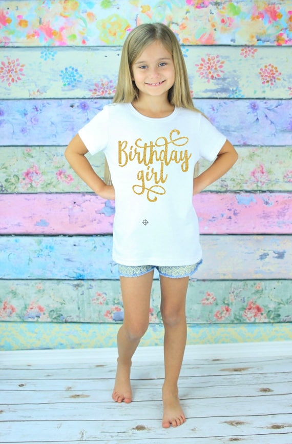 Girls Birthday Shirt 7th Girl Six Gift