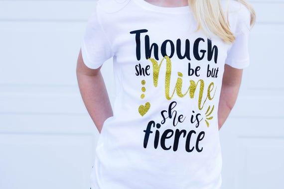 Nine Birthday Shirt 9th Girl