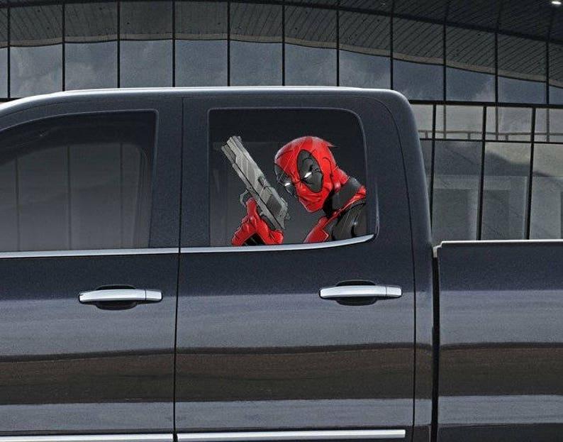 Vinyl Auto Fenster voller Farbe Grafik Aufkleber Deadpool ...