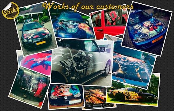 Vinyl Car Hood Full Color Graphics Decal The Incredible Hulk Sticker