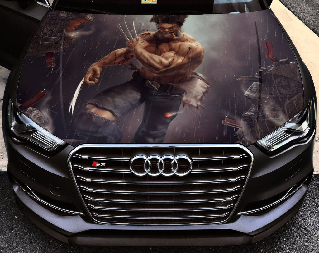 Vinyl Car Hood Wrap Full Color Graphics Decal X-Men Wolverine