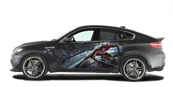 VENOM LOGO SPIDERMAN CAR DECAL GRAPHIC VINYL HOOD SIDE