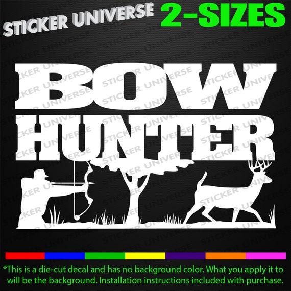 Bow Hunter Tree Stand Truck Car Window Decal Bumper Sticker Archery Deer 0227