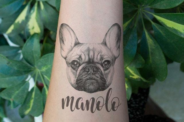 custom french bulldog temporary tattoo customize name custom etsy rh etsy com french bulldog tattoo pinterest french bulldog tattoo designs