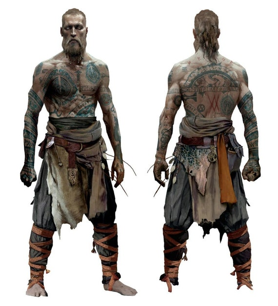 Baldur From God Of War Temporary Tattoos For Cosplayers Arms Front And Back Designs Available