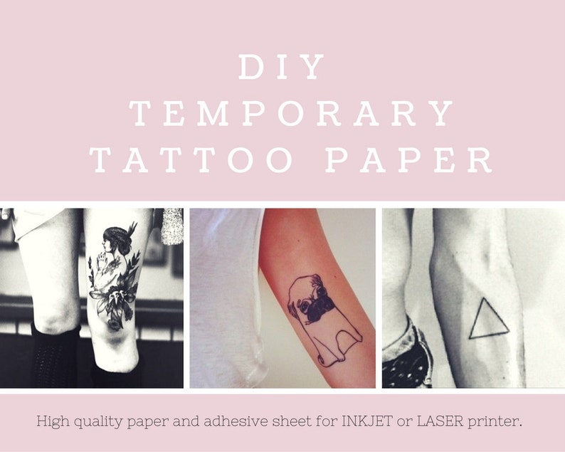 photograph regarding Printable Temporary Tattoo Paper referred to as Do it yourself Short-term Tattoo Paper. Inkjet or Laser printer. Print your personalized tattoos at household!