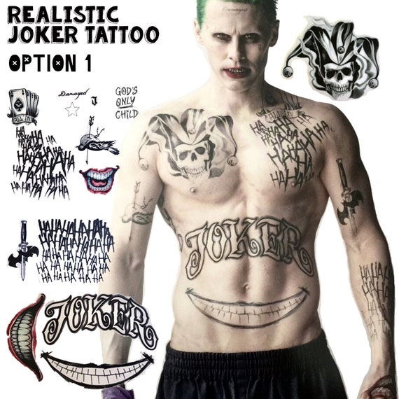 Joker Temporary Tattoos Suicide Squad Costume Cosplay