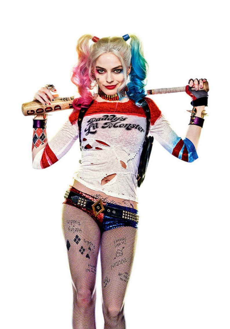 Harley Quinn Temporary Tattoos Suicide Squad Costume Cosplay