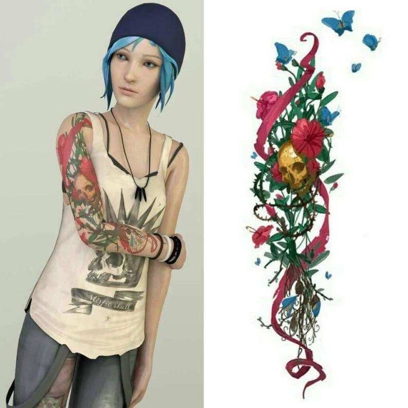 596a47b007f Custom cosplay tattoo Chloe Price Life is Strange | Etsy