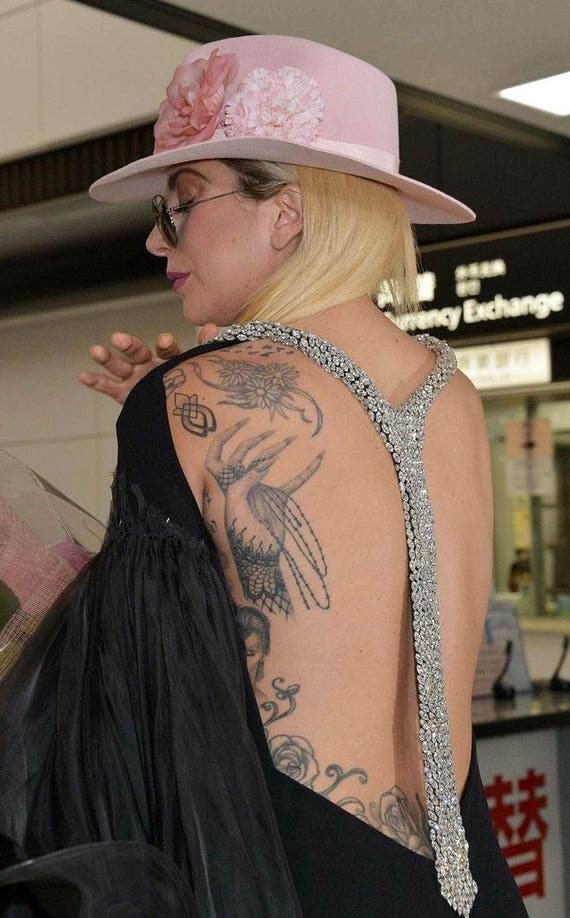 Lady Gaga Cosplay Tymczasowe Tatuaże Zainspirowany Tats Gagi