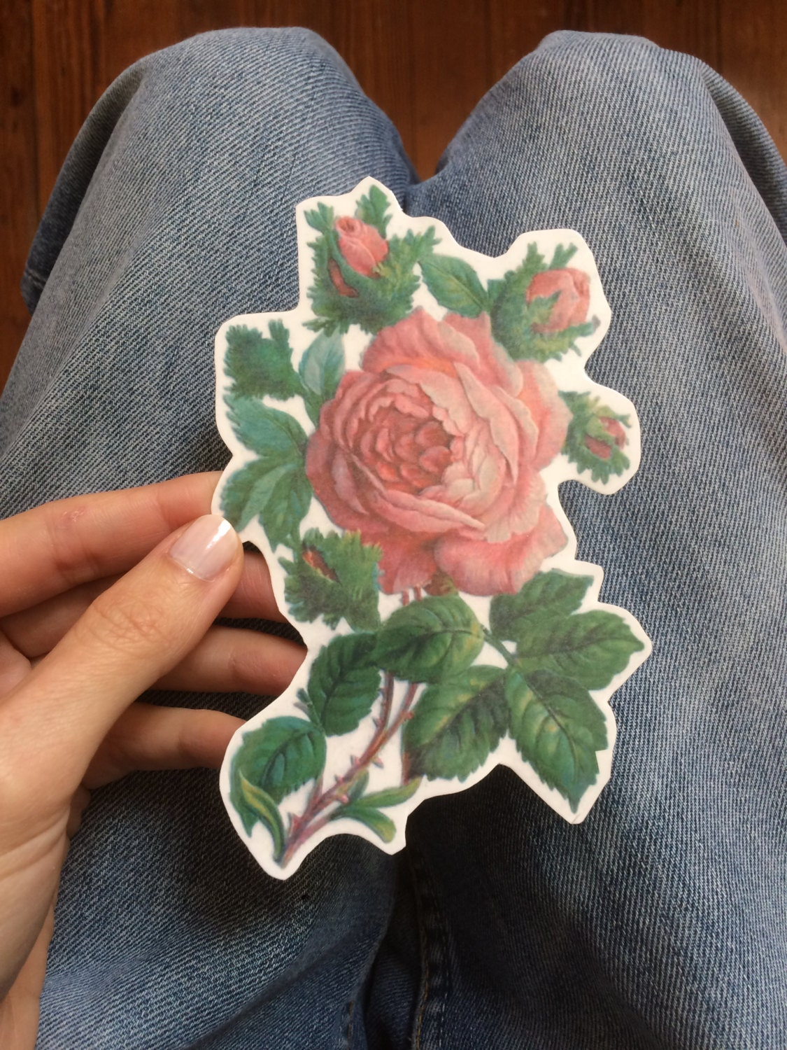 d6bbb4052ece0 Rose Temporary Tattoo. Big Floral Tattoo available in small   Etsy