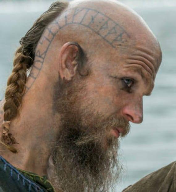 Cabeza de floki tatuaje vikingos para cosplay por encargo a for Did vikings have tattoos