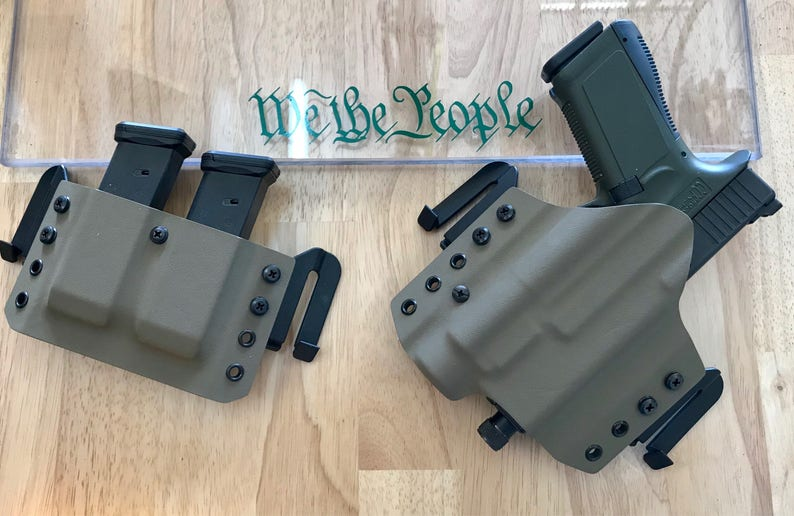 Glock 19/17 TLR 1 OWB Holster and Double Mag Carrier Combo  Free Shipping