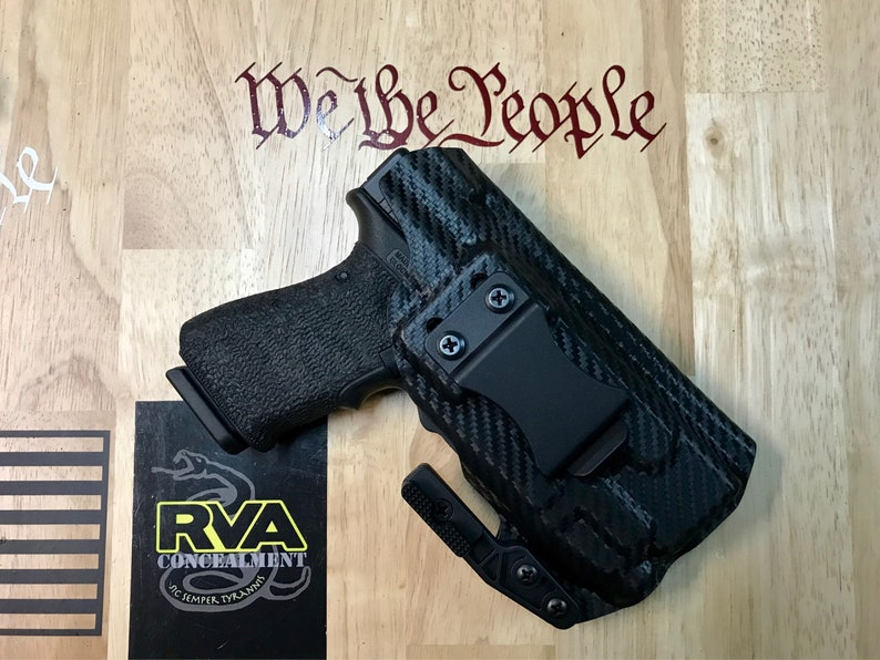 Glock 19 with TLR7 light Adjustable IWB  FREE SHIPPING