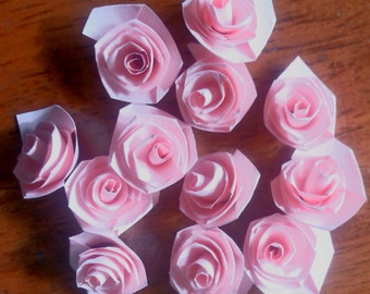 Quilling Quilled 1 dozen (12) Handmade Roses Scrapbooking & Card making