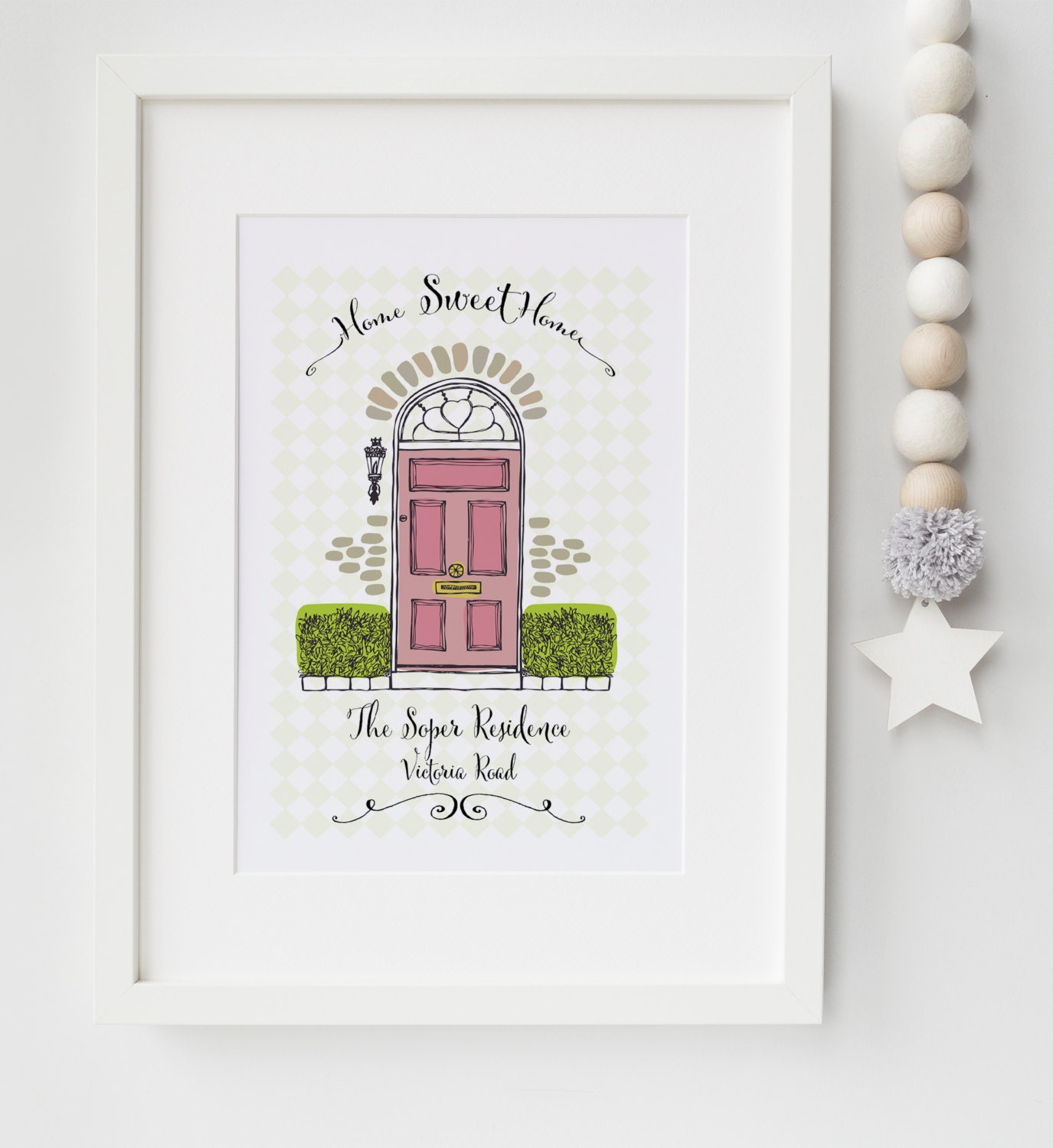 personalised new home house warming picture print memento wall