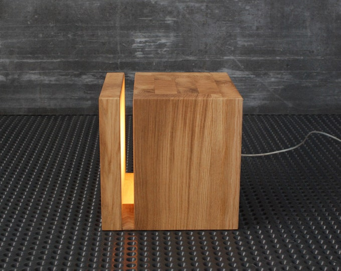 Lamp / Cubic lamp wooden / Night lamp for children / Modern home lamp / Designer lighting /  / Modern wood lamp / Modern loft lighting