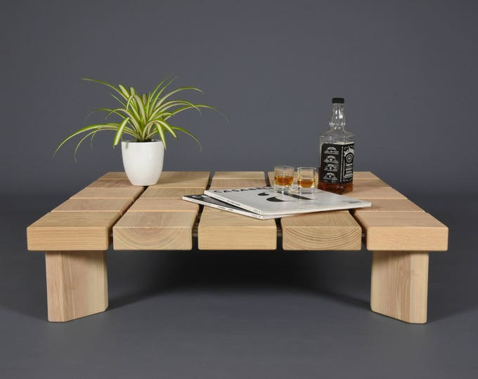 design wooden Coffee table /  Side table wood mid century / Modern handmade ash tree wood table / Table living room