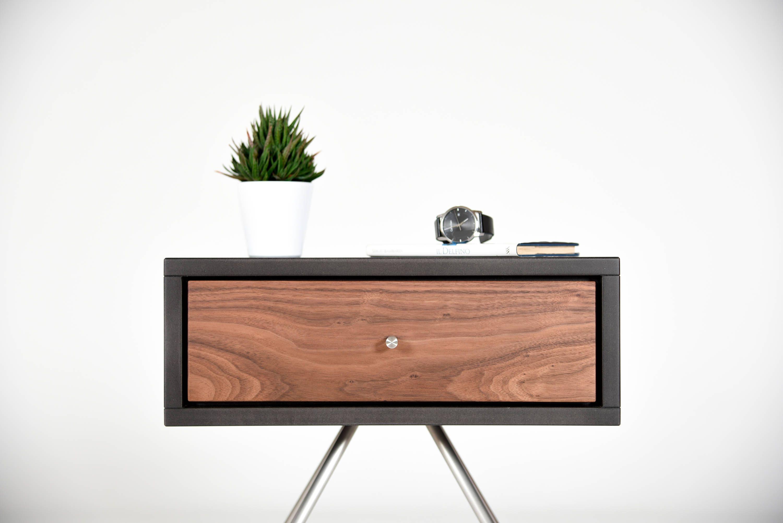 Unique Bedroom Nightstand Mid Century Nightstand With