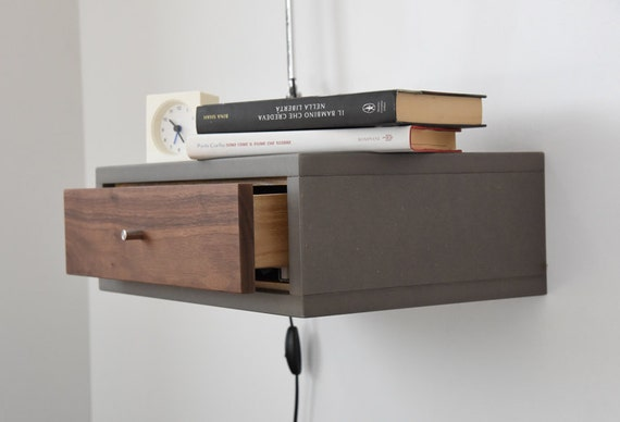 Wall Mounted Bedside Lamp And Table