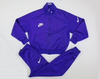 be6372ef48a2 Nike Vintage Tracksuit Size S M 80s 90s Nike Two Piece Track Jacket and  Pants Vintage Nike Grey Tag Track Top and Bottom Made in Japan