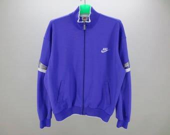 Nike Jacket ~ Men Size S M ~ 80s 90s Nike Track Jacket ~ Nike Grey Tag  Vintage Tracksuit Top ~ Made in Japan 029dfa60c