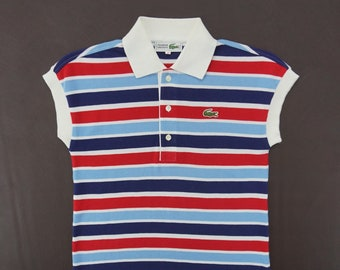 3909025b5 Lacoste Shirt Size 40 Womens Size L Chemise Lacoste Long Polo Shirt Lacoste  Sleeveless Multicolor Striped Shirt